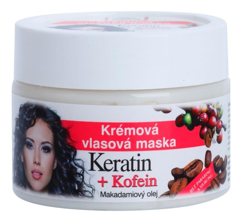 Bione Cosmetics Keratin Kofein Crème-Masker  voor het Haar