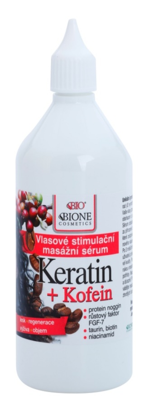 Bione Cosmetics Keratin Kofein Serum für das Wachstum der Haare und die Stärkung von den Wurzeln heraus
