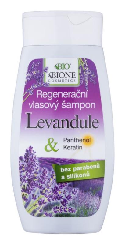Bione Cosmetics Lavender відновлюючий шампунь для всіх типів волосся