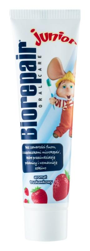 Biorepair Junior zobna pasta za otroke z jagodnim okusom