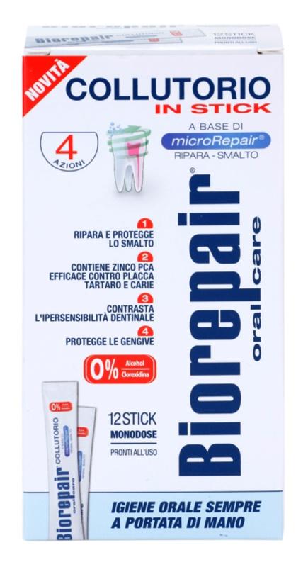 Biorepair Plus enjuague bucal para fortalecer y restaurar el esmalte dental estuche de viaje