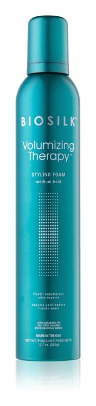 Biosilk Volumizing Therapy pěna na vlasy střední zpevnění
