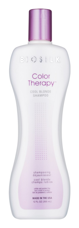 Biosilk Color Therapy Shampoo  neutraliseert gele Tinten
