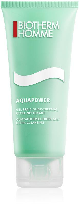 Biotherm Homme Aquapower frissítő tisztító gél az arcra