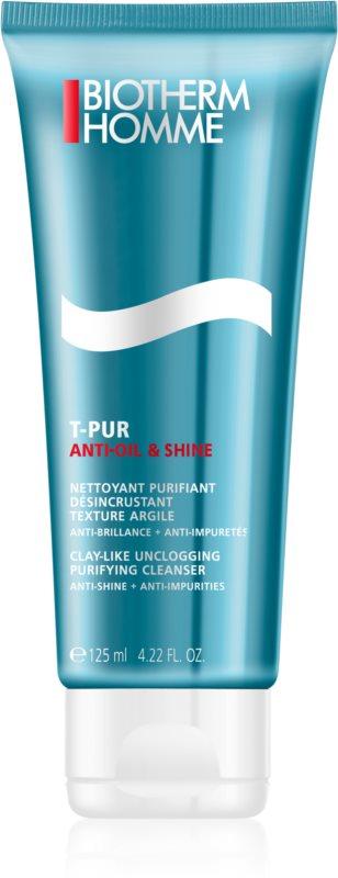 Biotherm Homme T-Pur Anti-oil & Shine gel nettoyant détoxifiant pour peaux grasses et à problèmes