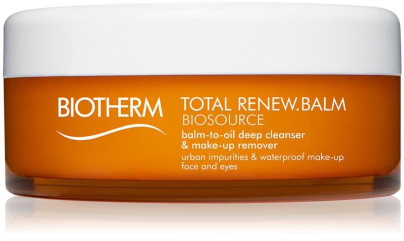 Biotherm Biosource Total Renew Balm émulsion démaquillante visage et yeux
