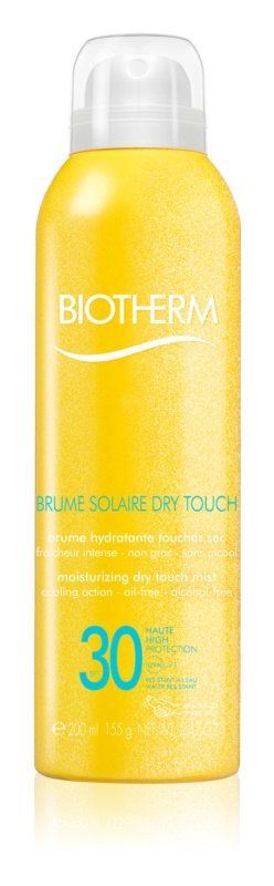 Biotherm Brume Solaire Dry Touch ενυδατική αντηλιακή ομίχλη με ματ αποτέλεσμα SPF 30