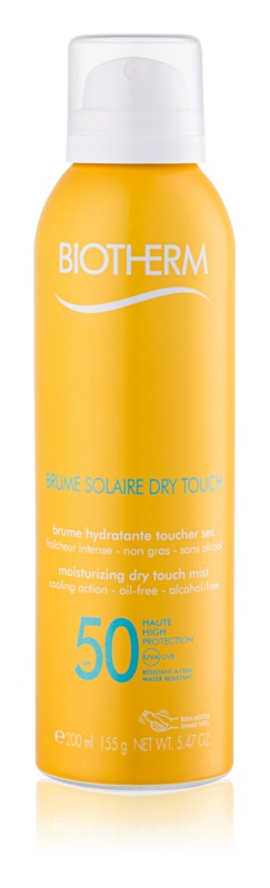 Biotherm Brume Solaire Dry Touch ενυδατική αντηλιακή ομίχλη με ματ αποτέλεσμα SPF 50