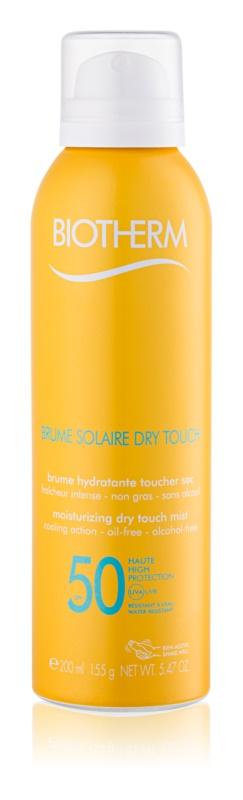 Biotherm Brume Solaire Dry Touch spray abbronzante idratante opacizzante SPF 50