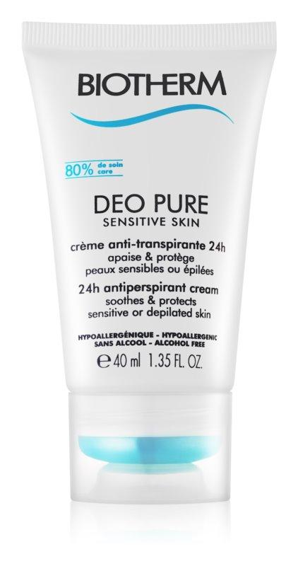 Biotherm Deo Pure Sensitive Skin antitranspirante cremoso para pele sensível e depilada