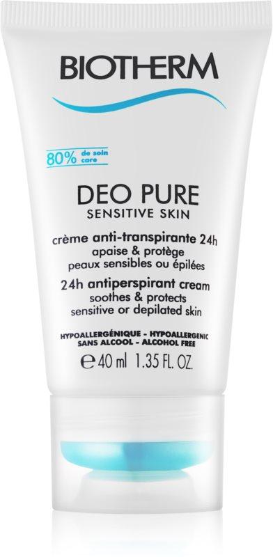 Biotherm Deo Pure Sensitive Skin kremowy antyperspirant do skóry wrażliwej i po depilacji