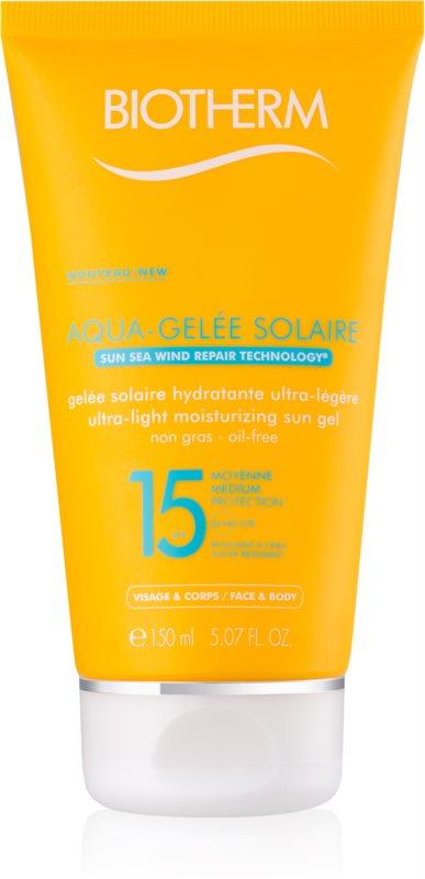 Biotherm Aqua-Gelée Solaire gel cu protectie solara hidratant SPF 15