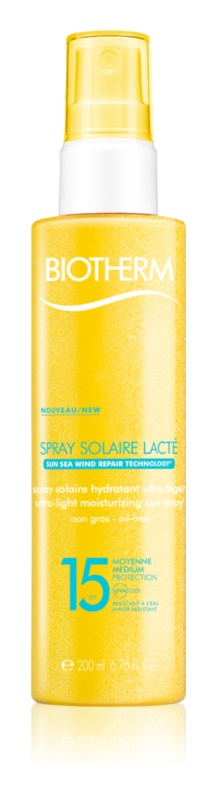 Biotherm Spray Solaire Lacté ενυδατικό αντηλιακό σπρέι SPF15