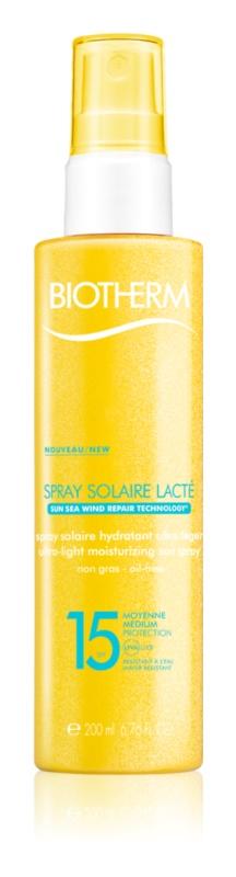 Biotherm Spray Solaire Lacté vlažilno pršilo za sončenje SPF 15