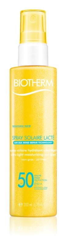 Biotherm Spray Solaire Lacté spray autobronzant hidratant SPF 50