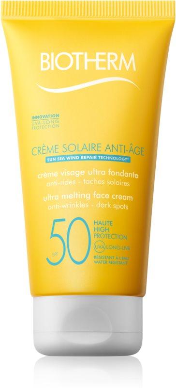 Biotherm Crème Solaire Anti-Âge krema proti gubam za sončenje SPF 50