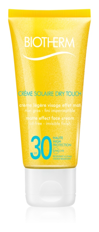 Biotherm Créme Solaire Dry Touch Matterende Zonnebandcrème voor het Gezicht SPF 30