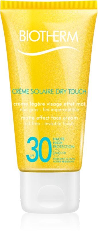 Biotherm Créme Solaire Dry Touch Protetor solar com efeito mate para o rosto. SPF 30
