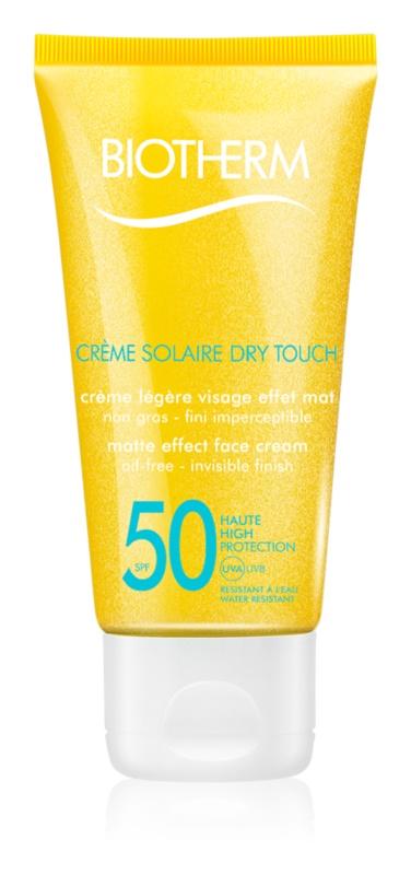 Biotherm Crème Solaire Dry Touch matující opalovací krém na obličej SPF 50