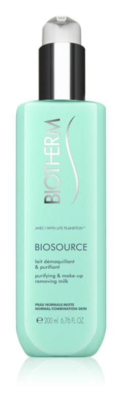 Biotherm Biosource lait démaquillant purifiant pour peaux normales à mixtes