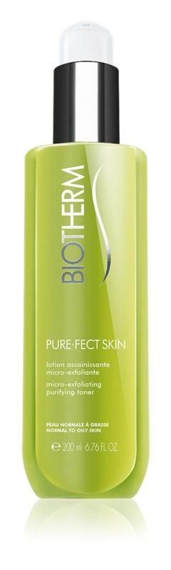 Biotherm PureFect Skin eksfolijacijski tonik za čišćenje za normalno i masno lice