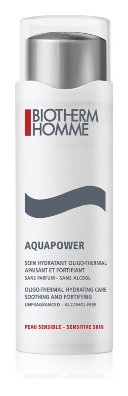 Biotherm Homme Aquapower cuidado hidratante para calmar y fortalecer pieles sensibles