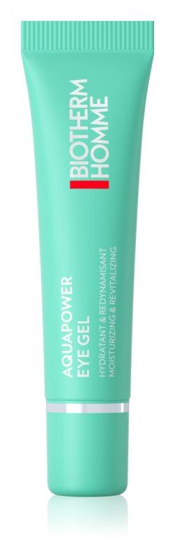 Biotherm Homme Aquapower Eye De-Puffer hydratačný očný gél proti opuchom