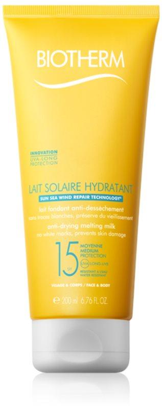 Biotherm Lait Solaire молочко для засмаги для шкіри обличчя та тіла SPF 15