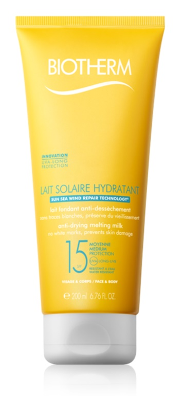 Biotherm Lait Solaire Sonnenlotion für Gesicht und Körper LSF 15