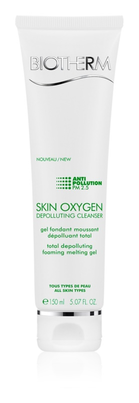 Biotherm Skin Oxygen Depolluting Cleanser Total Depolluting Foaming Melting Gel