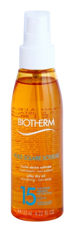 Biotherm Huile Solaire ξηρό αντηλιακό λάδι σε σπρέι SPF 15