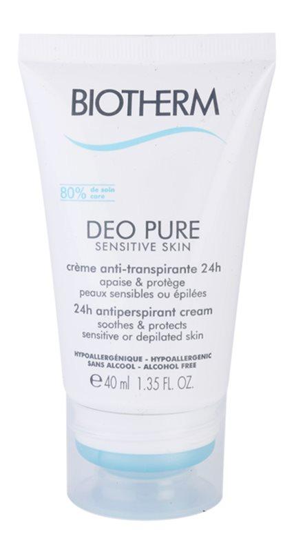Biotherm Deo Pure Antitranspirant-Creme für empfindliche und depilierte Haut
