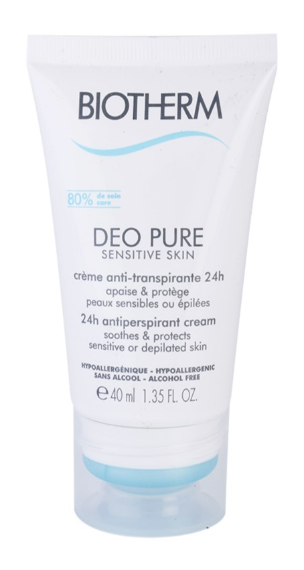 Biotherm Deo Pure krémový antiperspirant pre citlivú a depilovanú pokožku