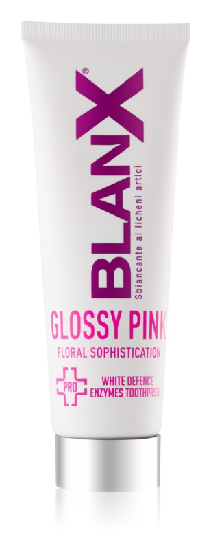 BlanX PRO Glossy Pink bieliaca zubná pasta proti žltým škvrnám