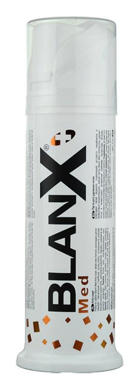 BlanX Med bělicí pasta proti skvrnám na zubní sklovině s mikrogranulemi