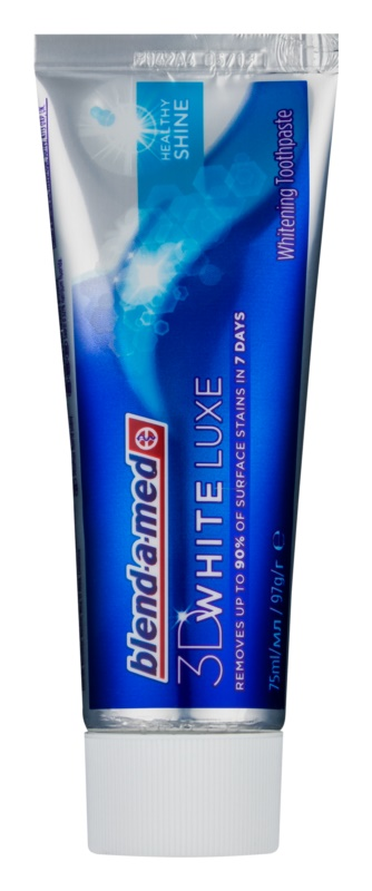 Blend-a-med 3D White Luxe Healthy Shine pasta de dientes con efecto blanqueador para tener un aspecto sano
