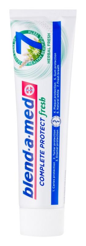 Blend-a-med Complete 7 + Mouthwash Herbal zubná pasta a ústna voda 2v1 pre kompletnú ochranu zubov