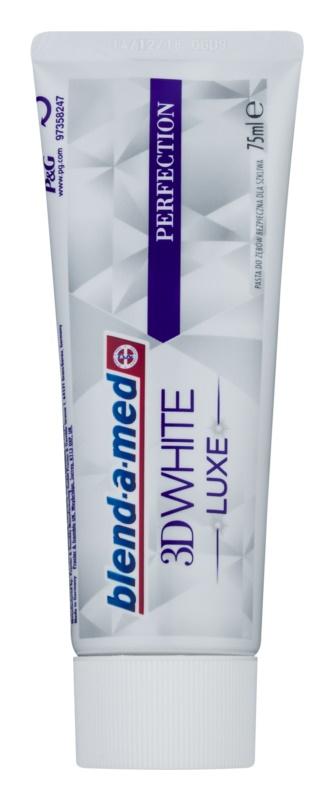 Blend-a-med 3D White Luxe Perfection pasta de dientes blanqueadora con efecto antimanchas en el esmalte