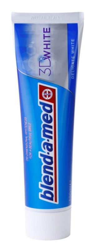Blend-a-med 3D White Delicate White pasta de dientes con efecto blanqueador