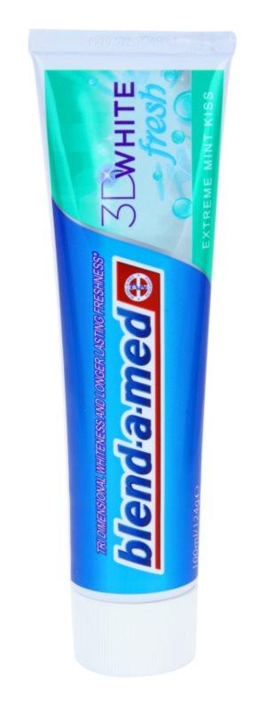 Blend-a-med 3D White Fresh Extreme Mint Kiss wybielająca pasta do zębów odświeżający oddech