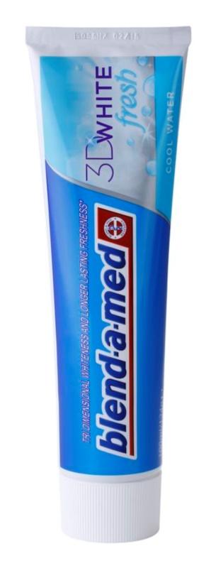 Blend-a-med 3D White Fresh Cool Water pasta de dientes blanqueadora para aliento fresco