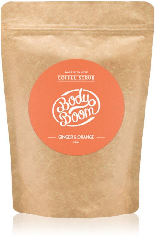 BodyBoom Ginger & Orange exfoliant de corp, cu cafea