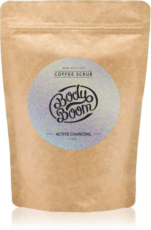 BodyBoom Active Charcoal kávový tělový peeling
