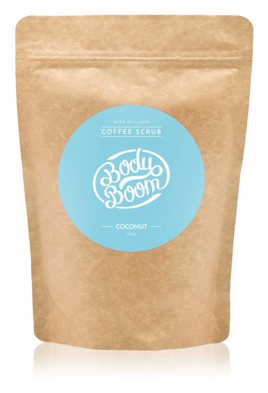BodyBoom Coconut kávový telový peeling
