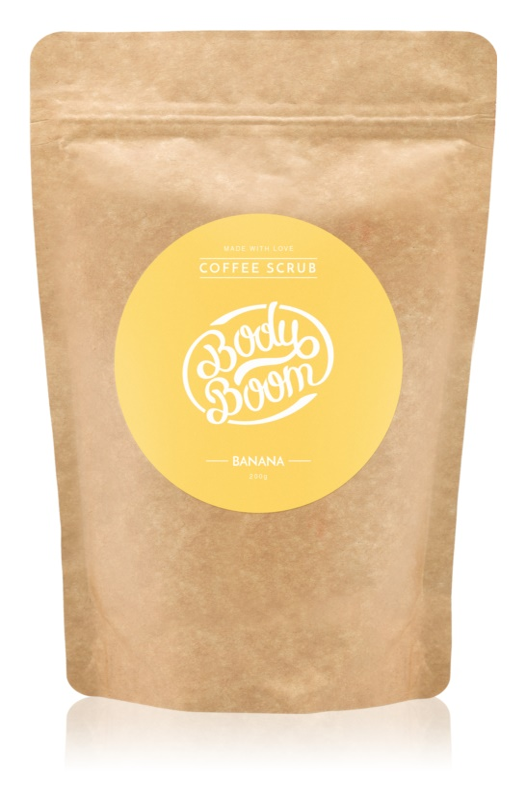 BodyBoom Banana exfoliant de corp, cu cafea