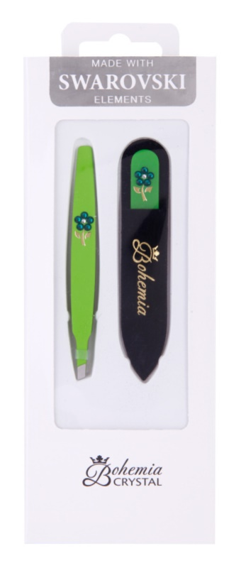 Bohemia Crystal Bohemia Swarovski Nail File and Tweezers косметичний набір IV.