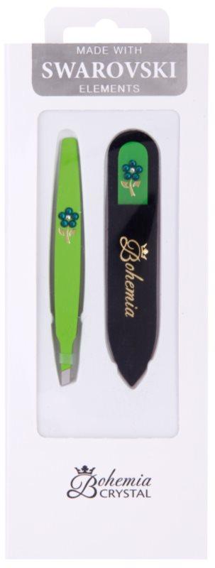 Bohemia Crystal Bohemia Swarovski Nail File and Tweezers kit di cosmetici IV.