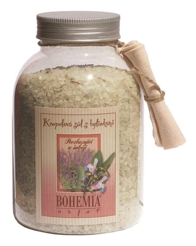 Bohemia Gifts & Cosmetics Bohemia Natur sare de baie revigorantă, cu salvie