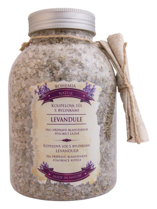 Bohemia Gifts & Cosmetics Bohemia Natur Beruhigendes Badesalz mit Kräutern mit Lavendel
