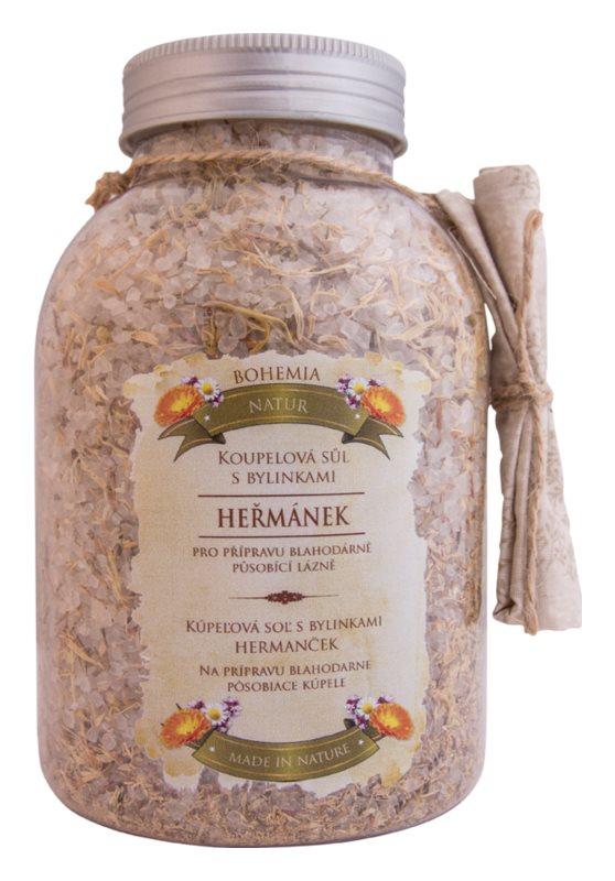 Bohemia Gifts & Cosmetics Bohemia Natur sól do kąpieli z trzema rodzajami ziół